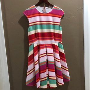 Fit and flare Ted Baker dress size 3
